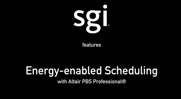 Power-Aware HPC with Altair and SGI