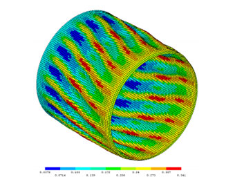 A shell facet model for preliminary design of cylindrical composite structures