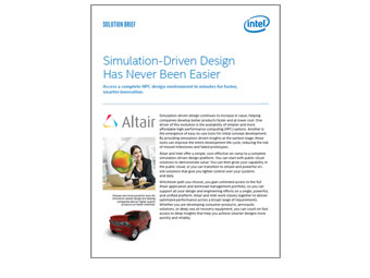 Intel Solution Brief: Altair and Simulation-Driven Design