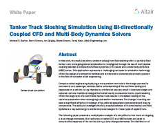 Tanker Truck Sloshing Simulation Using Bi-directionally Coupled CFD and Multi-Body Dynamics Solvers