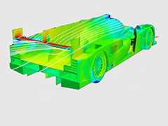 Topology optimization of a prototype race car rear wing pillar