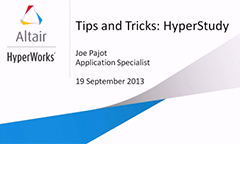Tips & Tricks HyperStudy