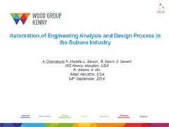 Automation of Engineering Analysis and Design Process in Subsea Industry