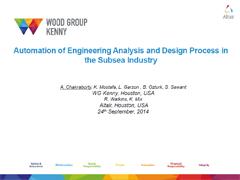 海底工业的工程分析和设计流程自动化