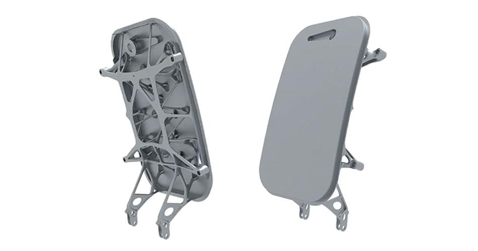Additive manufactured aircraft part, airplane door, SLM