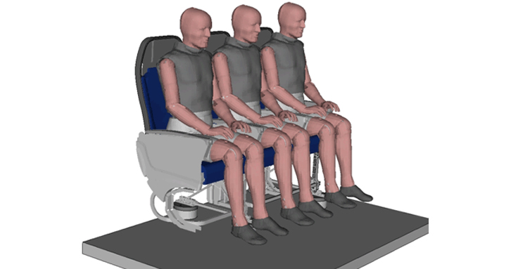 Aircraft Seat Simulation (Courtesy of NIAR)