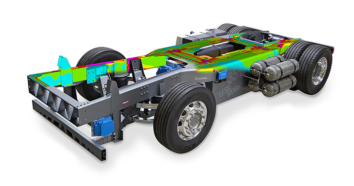 Conceptional Lightweight truck frame developed by ECS