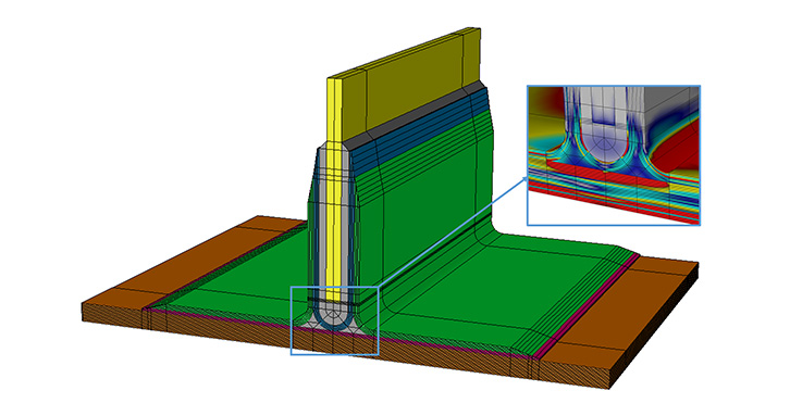 Industry-leading 3D ply-by-ply analysis of laminated composite bonded structures (e.g. Pi joint)