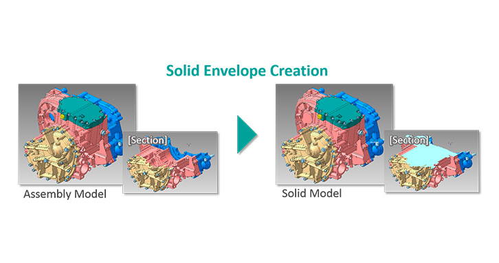 Coming soon... CADdoctor Solid Envelop function streamlines the data preparation for CAE analysis.