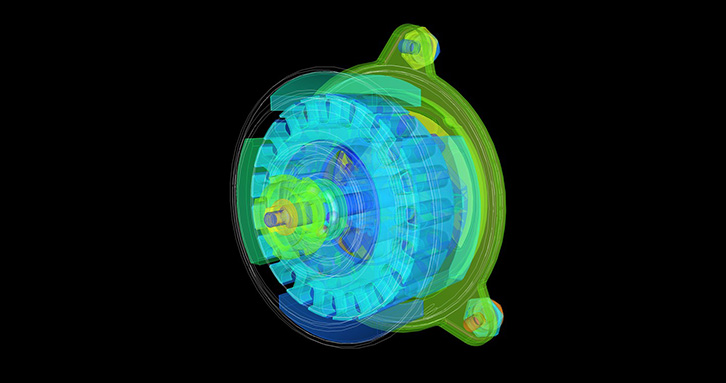 Thermal simulation of motor
