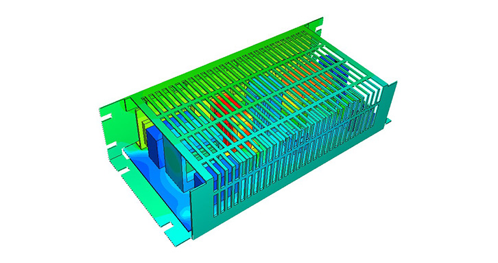 Thermal simulation of power unit