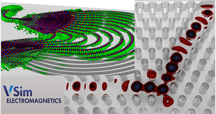 VSim simulates photonic crystals and dielectric waveguides.