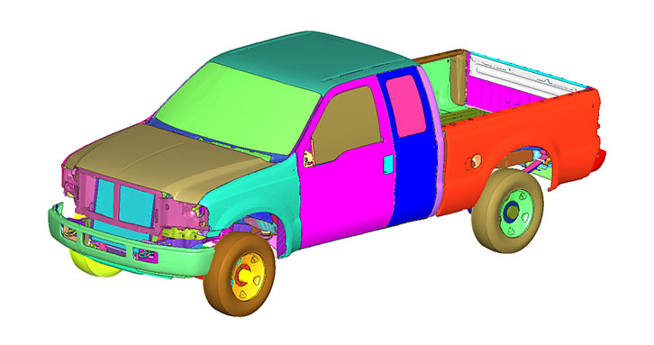 Isoview of a truck model