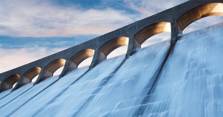 Optimal planning of flows in multi reservoir hydro power