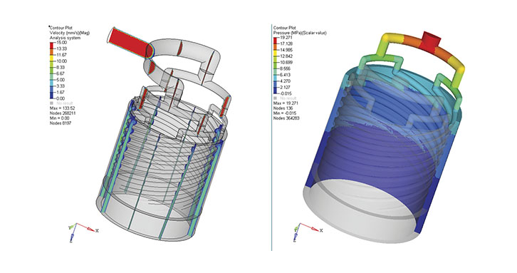 Simulation of a tube extrusion die