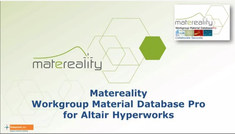 Introduction to Matereality Workgroup Material Database Pro