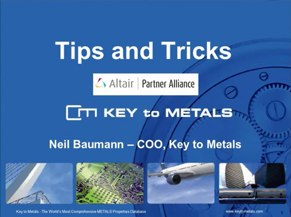Tips and Tricks for Key to Metals