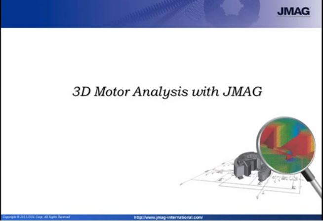3D Motor Analysis with JMAG