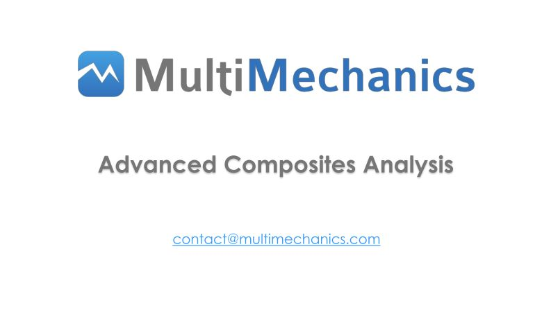 Online Training: Using MultiMech's TRUE Multiscale technology to predicting mechanical response of textile composites
