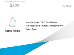 Introduction to CCC 2.0 – Newest Functionality & Import Geometry from HyperBeam
