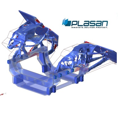 Development of A new vehicle front sub-frame using Altair Inspire topology optimization