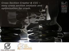 Cross Section Creator & CCC – Easy Cross Section Analysis and Optimization for Crash