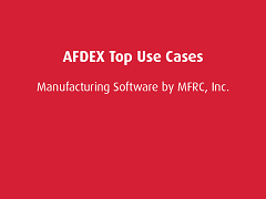 Top Use Cases: AFDEX