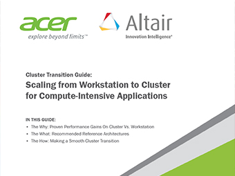 Acer and Altair Cluster Transition Guide: Scaling from Workstation to Cluster for Compute-Intensive Applications