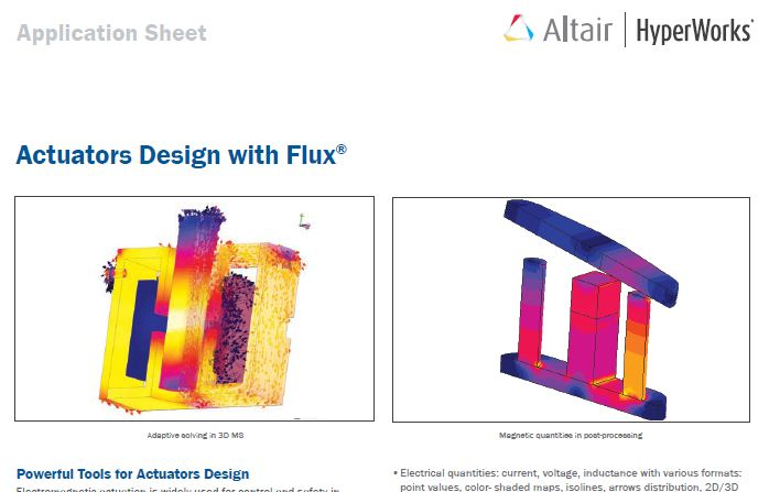 Actuators Design with Flux