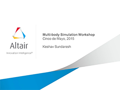 Multi-Body Simulation - Americas ATC 2015 Workshop