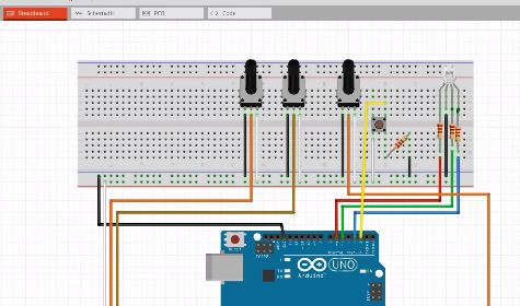 Altair Embed Arduino - Control the color of an LED using Potentiometers