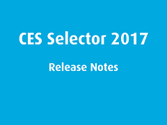 Release Notes: CES Selector 2017