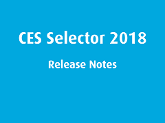 Release Notes: CES Selector 2018