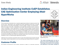 Indian Engineering Institute CoEP Establishes CAE Optimization Center Employing Altair HyperWorks
