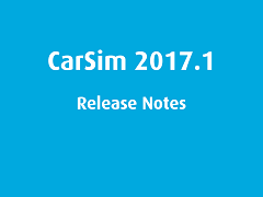 Release Notes: CarSim 2017.1