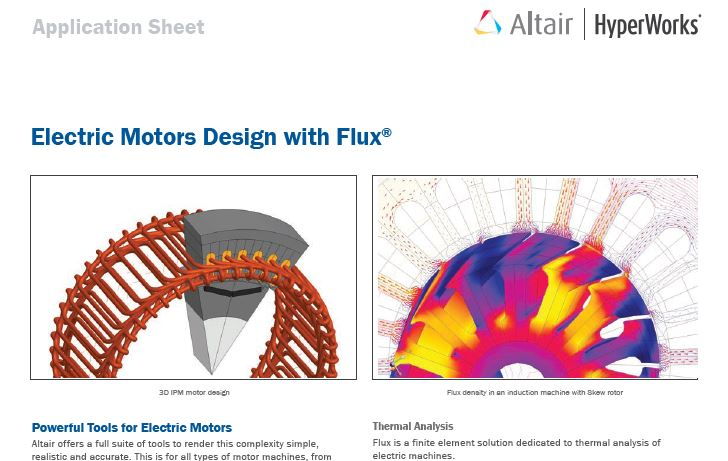 Electric Motors Design with Flux