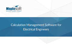 White Paper: Calculation Management Software for Electrical Engineers