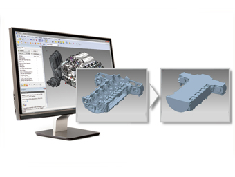 Creating Lightweight CAD Data through Enveloping Technology
