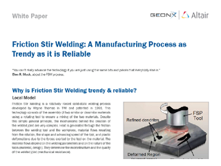 Friction Stir Welding: A Manufacturing Process as Trendy as