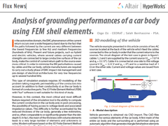 Analysis of Grounding Performances of a Car Body Using FEM Shell Elements