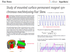 Study of Mounted Surface Permanent Magnet Synchronous Machine Using Flux® Skew