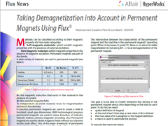 Taking Demagnetization into Account in Permanent Magnets Using Flux®