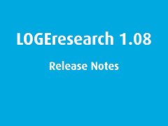 LOGEresearch Release Notes