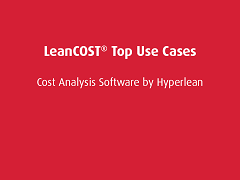 Top Use Cases: LeanCOST