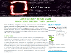 Case Study: Loccioni Group Reduces Waste & Increases Efficiency with LeanCOST®