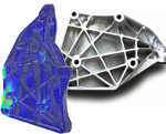 Topology Optimisation Used to Achieve Frequency Targets of an Engine Bracket
