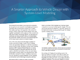Case Study: A Smarter Approach to Vehicle Design with System-Level Modeling