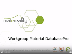 Matereality Workgroup Material DatabasePro Product Overview Video