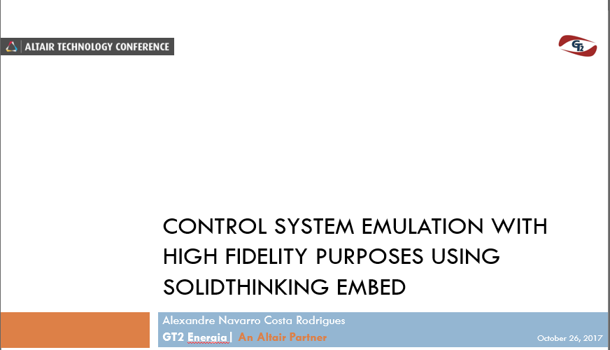Automatic Reproduction of Supervisory Control System Logic Diagrams with High Fidelity Functional Simulation Purposes using SolidThinking Embed