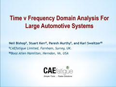 Time v Frequency Domain Analysis For Large Automotive Systems